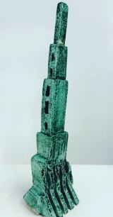 The Tower. Glazed Ceramic 40X12X8cms $550