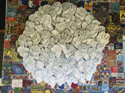 "'Circle Of Hands"" Plaster 2005"