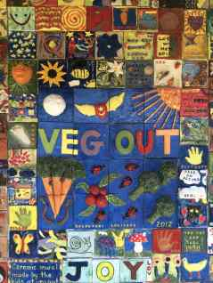 """Veg Out Ceramic mural 2017"